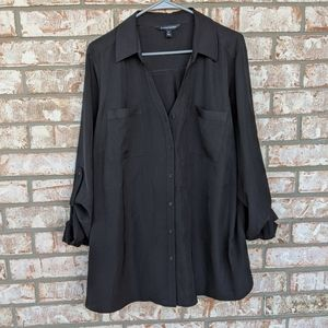 41 Hawthorn Classic Black Utility Blouse 3X